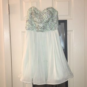 Aqua homecoming dress- My Michelle size 5